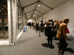 The line for Katya Leonovich at Lincoln Center for Mercedes Benz Fashion Week