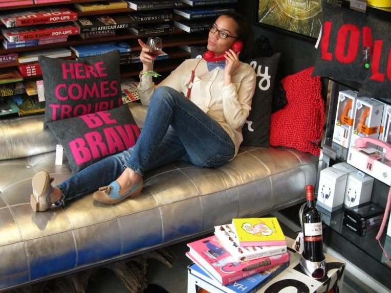 Alexandra Ferguson pillows, Gluk wine glass coaster, High Heel wine coaster, NEO (neoprene pillow)