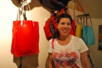 The woman behind those super cute handbags! Totes made in NYC