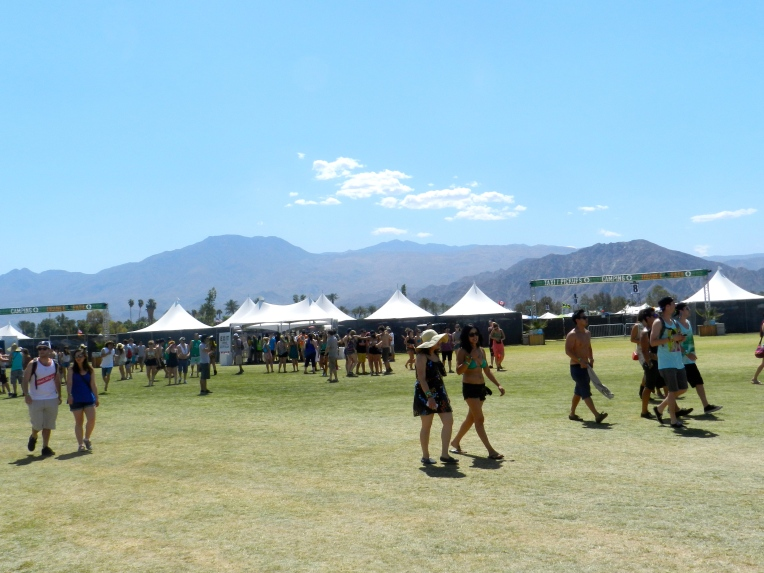 Scenery! The mountains you see upon entering the Coachella grounds.