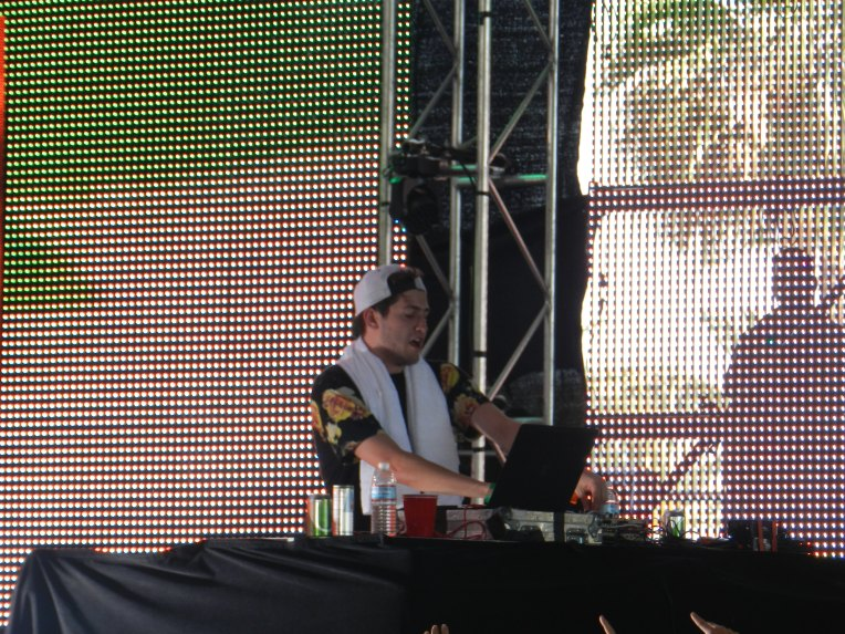 Baauer during his set in the Sahara tent