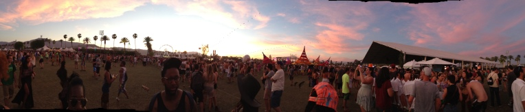 Coachella sunset PANORAMA!