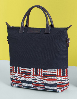 Want Essentials O'Hare Shopper Tote in Navy/ Frise