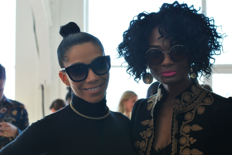 Bridget Kelly and her stylist Kimberly V close up