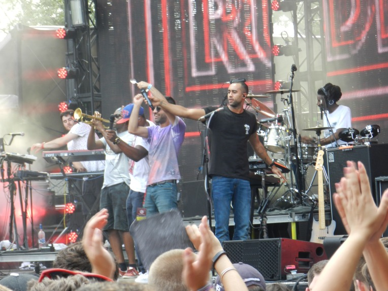 The fellas of Rudimental jamming out