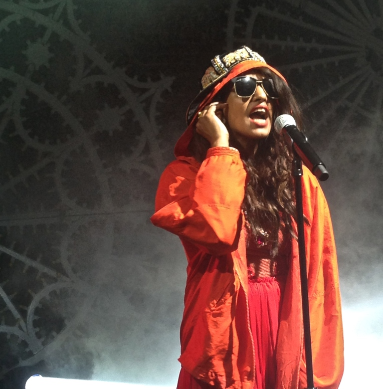 M.I.A performing at her 'Matangi' release show