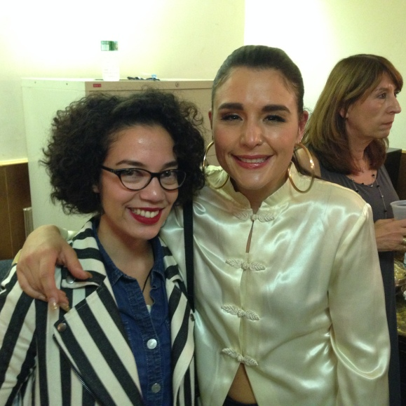 Jessie Ware and I backstage