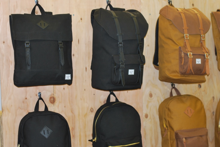 Various backpack silhouettes