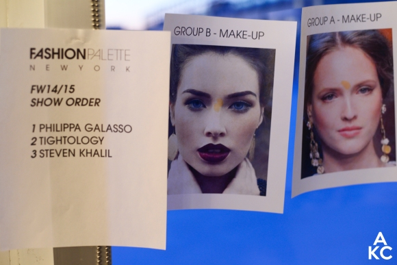Make-up guides for the groups of models.