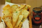 Fried bread with Jalapeno Pepper Relish
