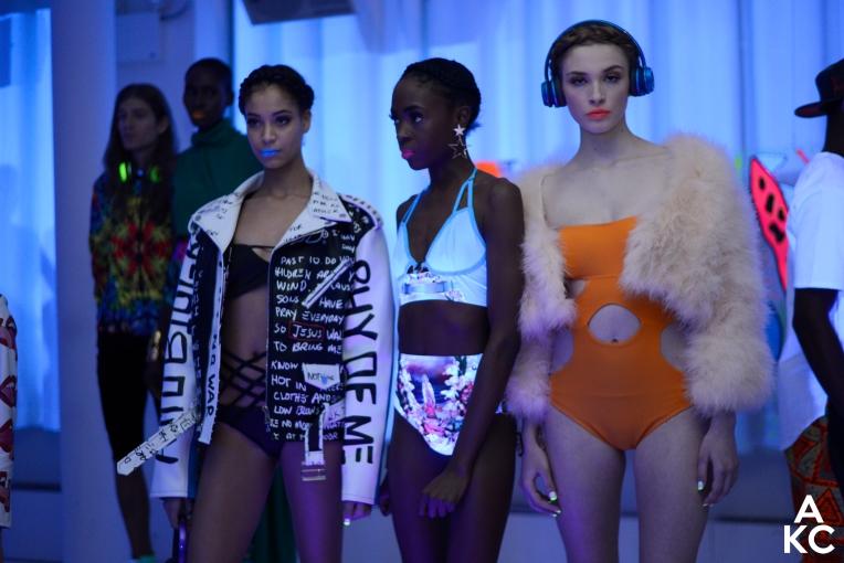 Models in line at Angela Simmons #ElectricDaze presentation.