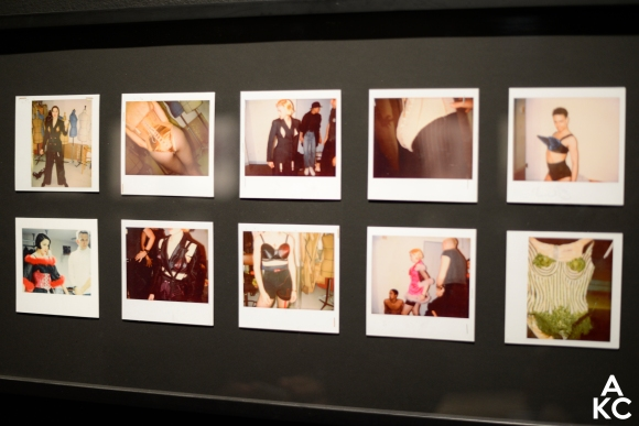 Polaroids of Madonna's costume fittings.