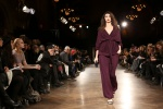A bold bordeaux women's look from Lars Andersson AW14