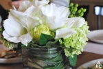 Gorgeous floral arrangements on the tables