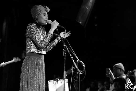 Yuna commanding the stage at the Bell House in Brooklyn.