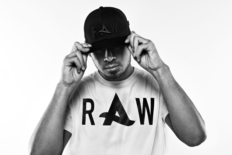Afrojack modeling a tee from his G-Star Raw Spring '14 collection.