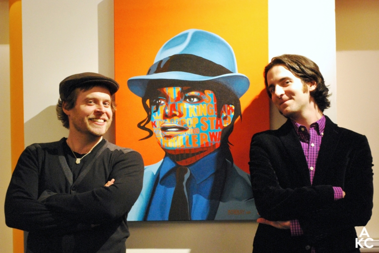 Borbay on left and author Zack O'Malley Greenburg.