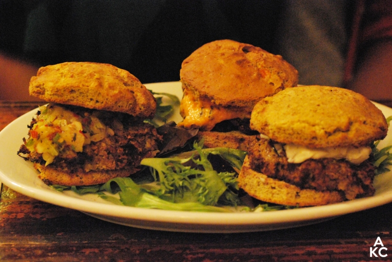 Indira's meal: OG Burger sliders.