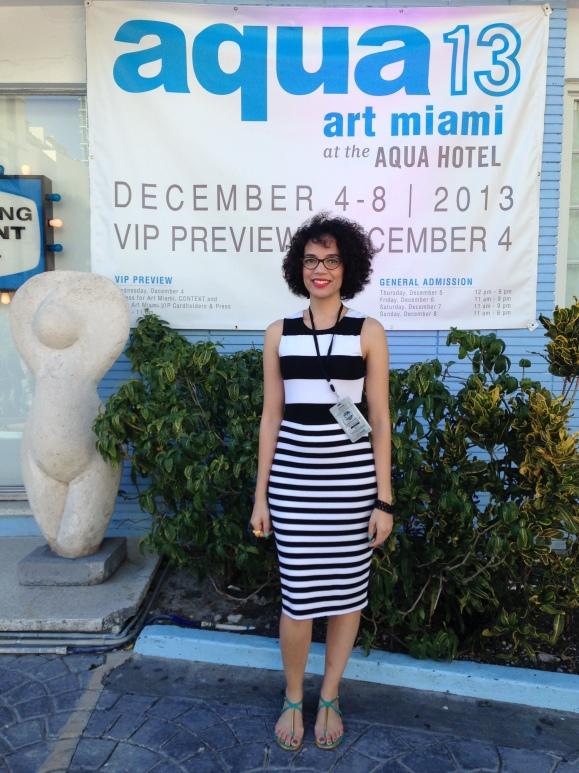 Running the musical show at Aqua Art Miami.