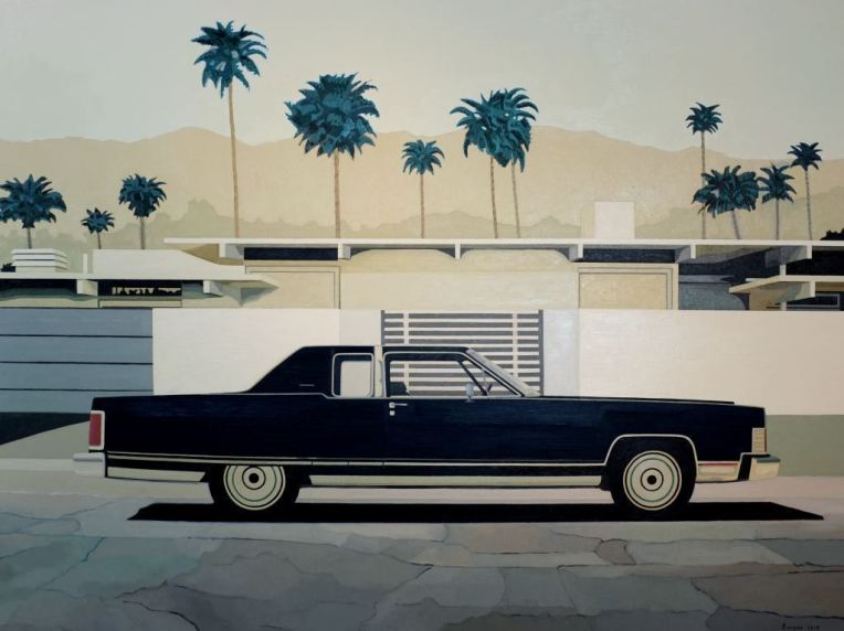 ANDY BURGESS. Lincoln Continental, Oil on Canvas, 54 x 72  in. 2014