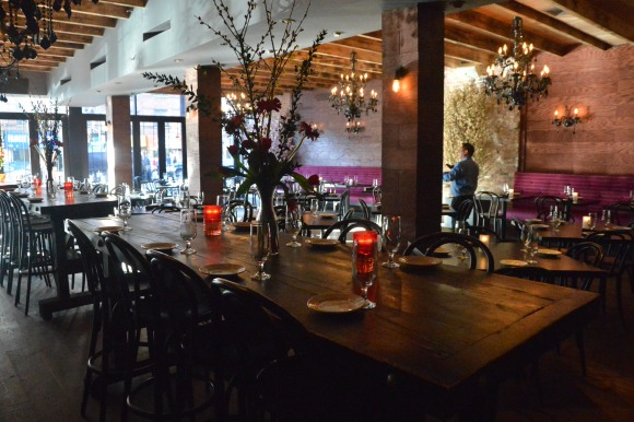 The main dining room at Bocca Di Bacco