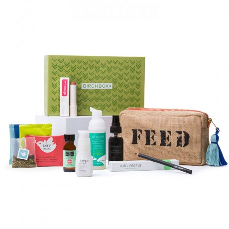 "The products inside Birchbox's ""Free For All"" box"