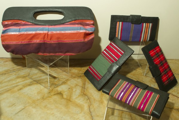 Handmade clutches.