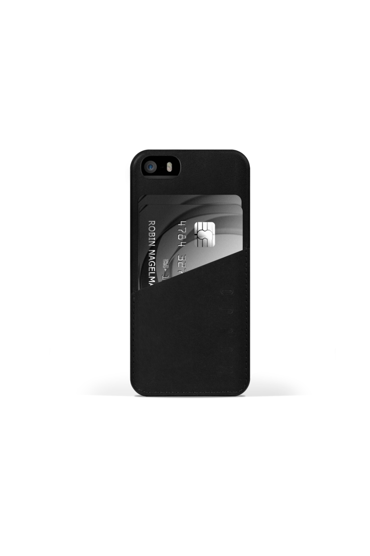 iPhone 5s Leather Wallet Case in Black