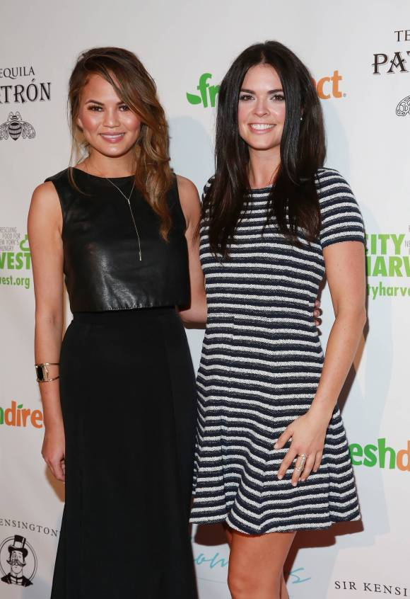 Model Chrissy Teigen and celebrity chef Katie Lee