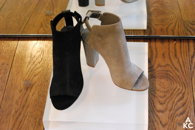 Loved the simplicity of these ankle bootie/sandal hybrids.